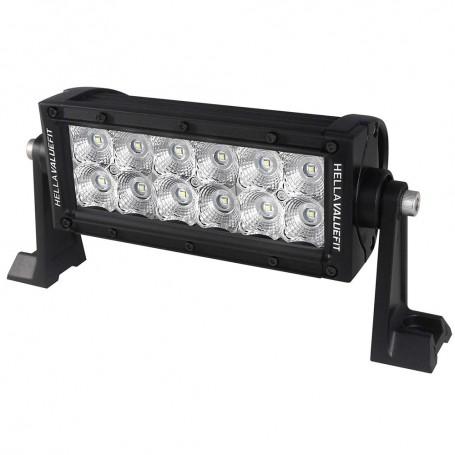 Hella Marine Value Fit Sport Series 12 LED Flood Light Bar - 8- - Black