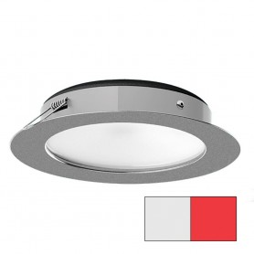 i2Systems Apeiron Pro XL A526 - 6W Spring Mount Light - Cool White-Red - Brushed Nickel Finish