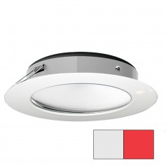 i2Systems Apeiron Pro XL A526 - 6W Spring Mount Light - Cool White-Red - White Finish