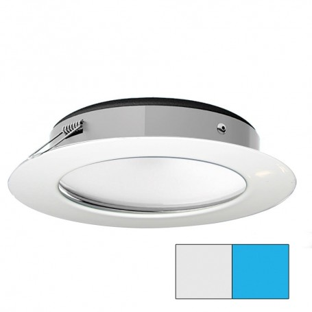 i2Systems Apeiron Pro XL A526 - 6W Spring Mount Light - Cool White-Blue - White Finish