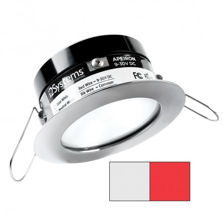 i2Systems Apeiron A503 3W Spring Mount Light - Cool White Red - Polished Chrome Finish
