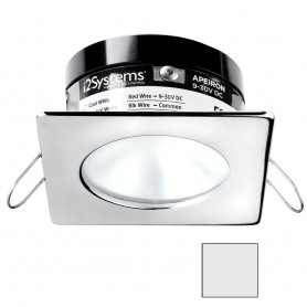 i2Systems Apeiron A503 3W Spring Mount Light - Square-Round - Cool White - Polished Chrome Finish