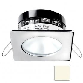 i2Systems Apeiron A503 3W Spring Mount Light - Square-Round - Neutral White - Polished Chrome Finish
