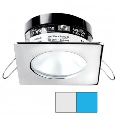 i2Systems Apeiron A503 3W Spring Mount Light - Square-Round - Cool White Blue - Polished Chrome Finish