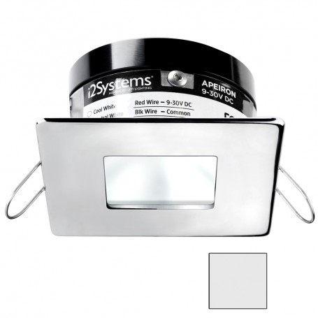 i2Systems Apeiron A503 3W Spring Mount Light - Square-Square - Cool White - Polished Chrome Finish