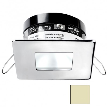 i2Systems Apeiron A503 3W Spring Mount Light - Square-Square - Warm White - Polished Chrome Finish