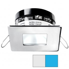i2Systems Apeiron A503 3W Spring Mount Light - Square-Square - Cool White Blue - Polished Chrome Finish