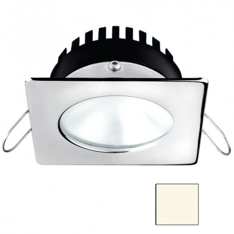 i2Systems Apeiron A506 6W Spring Mount Light - Square-Round - Neutral White - Polished Chrome Finish