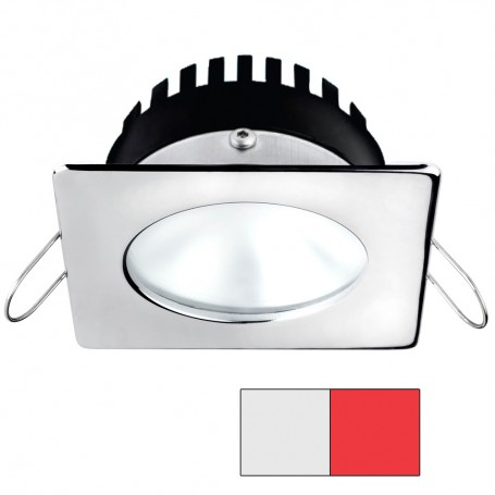 i2Systems Apeiron A506 6W Spring Mount Light - Square-Round - Cool White Red - Polished Chrome Finish