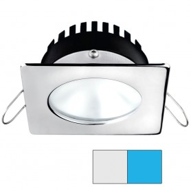 i2Systems Apeiron A506 6W Spring Mount Light - Square-Round - Cool White Blue - Polished Chrome Finish