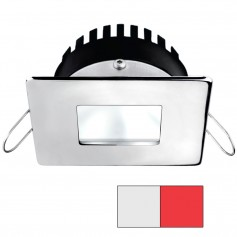 i2Systems Apeiron PRO A506 6W Spring Mount Light - Square-Square - Cool White Red - Polished Chrome Finish
