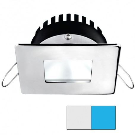 i2Systems Apeiron PRO A506 6W Spring Mount Light - Square-Square - Cool White Blue - Polished Chrome Finish