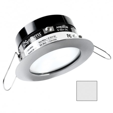 i2Systems Apeiron PRO A503 - 3W Spring Mount Light - Round - Cool White - Brushed Nickel Finish
