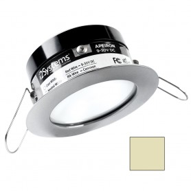 i2Systems Apeiron PRO A503 - 3W Spring Mount Light - Round - Warm White - Brushed Nickel Finish