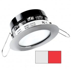 i2Systems Apeiron PRO A503 - 3W Spring Mount Light - Round - Cool White Red - Brushed Nickel Finish