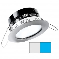 i2Systems Apeiron PRO A503 - 3W Spring Mount Light - Round - Cool White Blue - Brushed Nickel Finish
