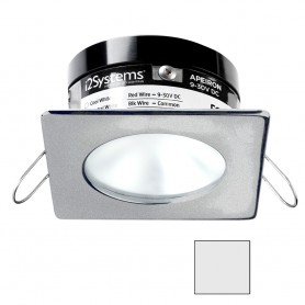 i2Systems Apeiron PRO A503 - 3W Spring Mount Light - Square-Round - Cool White - Brushed Nickel Finish