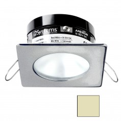 i2Systems Apeiron PRO A503 - 3W Spring Mount Light - Square-Round - Warm White - Brushed Nickel Finish
