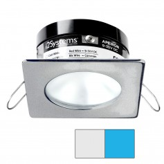 i2Systems Apeiron PRO A503 - 3W Spring Mount Light - Square-Round - Cool White Blue - Brushed Nickel Finish