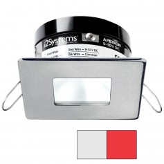 i2Systems Apeiron PRO A503 - 3W Spring Mount Light - Square-Square - Cool White Red - Brushed Nickel Finish