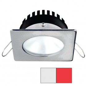 i2Systems Apeiron PRO A506 - 6W Spring Mount Light - Square-Round - Cool White Red - Brushed Nickel Finish