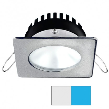 i2Systems Apeiron PRO A506 - 6W Spring Mount Light - Square-Round - Cool White Blue - Brushed Nickel Finish