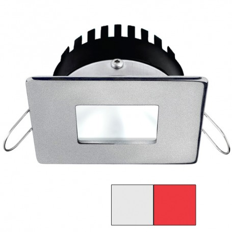 i2Systems Apeiron PRO A506 - 6W Spring Mount Light - Square-Square - Cool White Red - Brushed Nickel Finish