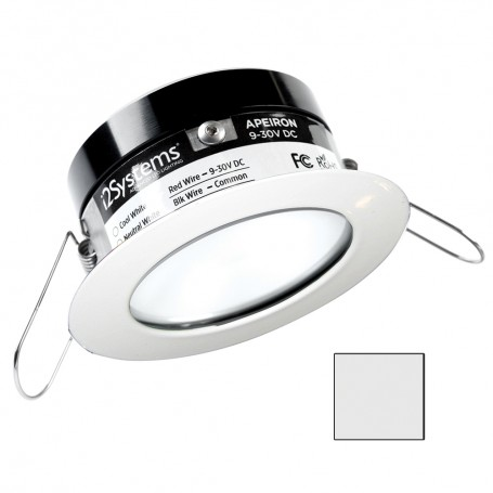 i2Systems Apeiron PRO A503 - 3W Spring Mount Light - Round - Cool White - White Finish
