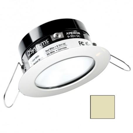 i2Systems Apeiron PRO A503 - 3W Spring Mount Light - Round - Warm White - White Finish