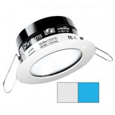 i2Systems Apeiron PRO A503 - 3W Spring Mount Light - Round - Cool White Blue - White Finish