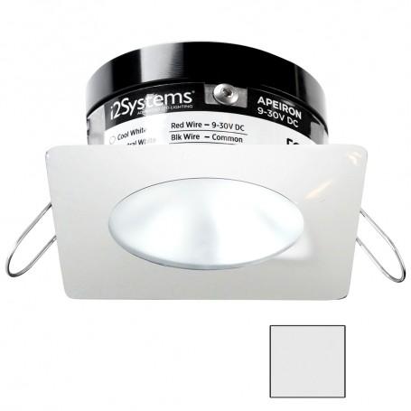 i2Systems Apeiron PRO A503 - 3W Spring Mount Light - Square-Round - Cool White - White Finish