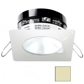 i2Systems Apeiron PRO A503 - 3W Spring Mount Light - Square-Round - Warm White - White Finish