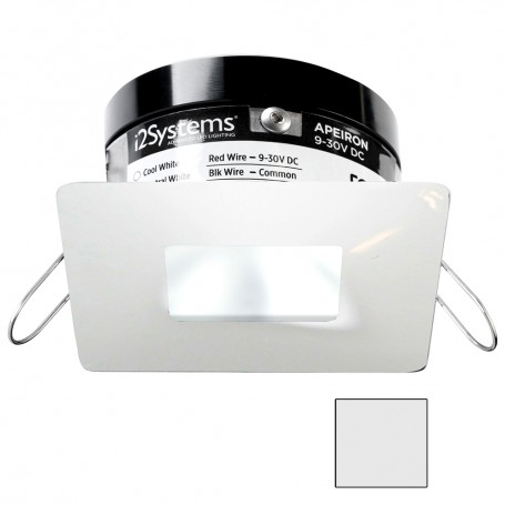 i2Systems Apeiron PRO A503 - 3W Spring Mount Light - Square-Square - Cool White - White Finish
