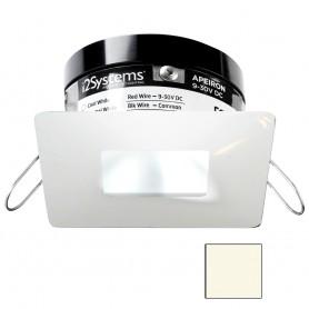 i2Systems Apeiron PRO A503 - 3W Spring Mount Light - Square-Square - Neutral White - White Finish