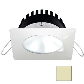 i2Systems Apeiron PRO A506 - 6W Spring Mount Light - Square-Round - Warm White - White Finish