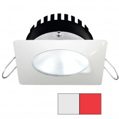 i2Systems Apeiron PRO A506 - 6W Spring Mount Light - Square-Round - Cool White Red - White Finish