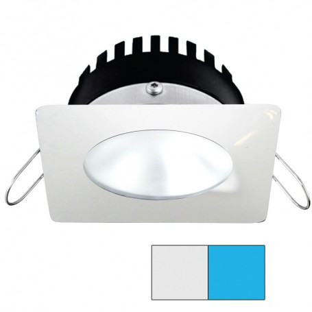 i2Systems Apeiron PRO A506 - 6W Spring Mount Light - Square-Round - Cool White Blue - White Finish