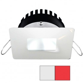 i2Systems Apeiron PRO A506 - 6W Spring Mount Light - Square-Square - Cool White Red - White Finish