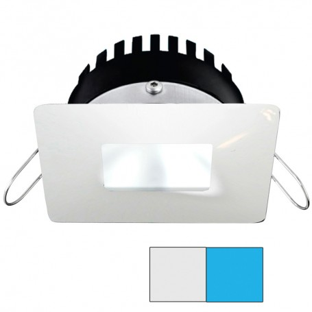 i2Systems Apeiron PRO A506 - 6W Spring Mount Light - Square-Square - Cool White Blue - White Finish