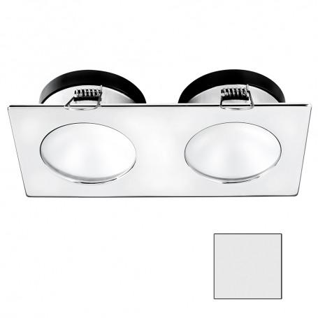 i2Systems Apeiron A1110Z - 4-5W Spring Mount Light - Double Round - Cool White - Chrome Finish