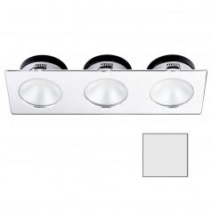 i2Systems Apeiron A1110Z - 4-5W Spring Mount Light - Triple Round - Cool White - Chrome Finish