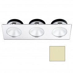 i2Systems Apeiron A1110Z - 4-5W Spring Mount Light - Triple Round - Warm White - Chrome Finish