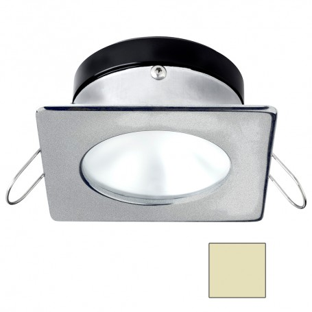 i2Systems Apeiron A1110Z - 4-5W Spring Mount Light - Square-Round - Warm White - Brushed Nickel Finish