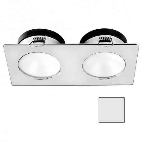 i2Systems Apeiron A1110Z - 4-5W Spring Mount Light - Double Round - Cool White - Brushed Nickel Finish