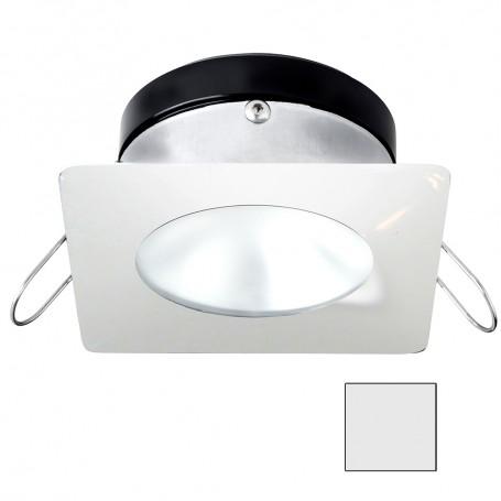 i2Systems Apeiron A1110Z - 4-5W Spring Mount Light - Square-Round - Cool White - White Finish