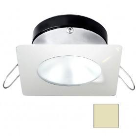 i2Systems Apeiron A1110Z - 4-5W Spring Mount Light - Square-Round - Warm White - White Finish