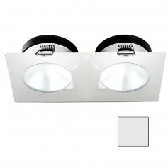 i2Systems Apeiron A1110Z - 4-5W Spring Mount Light - Double Round - Cool White - White Finish