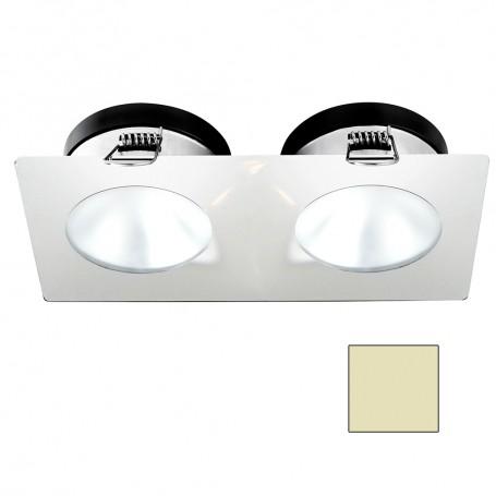 i2Systems Apeiron A1110Z - 4-5W Spring Mount Light - Double Round - Warm White - White Finish