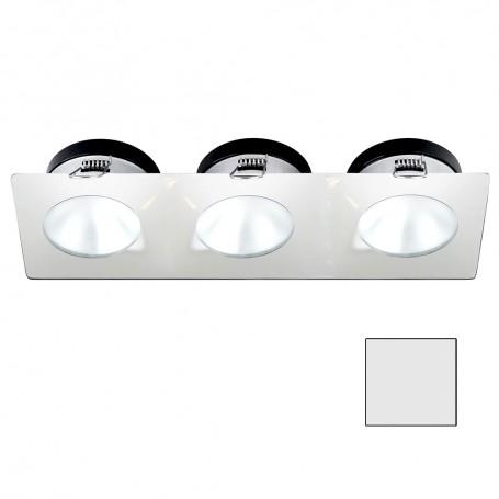 i2Systems Apeiron A1110Z - 4-5W Spring Mount Light - Triple Round - Cool White - White Finish