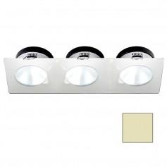 i2Systems Apeiron A1110Z - 4-5W Spring Mount Light - Triple Round - Warm White - White Finish